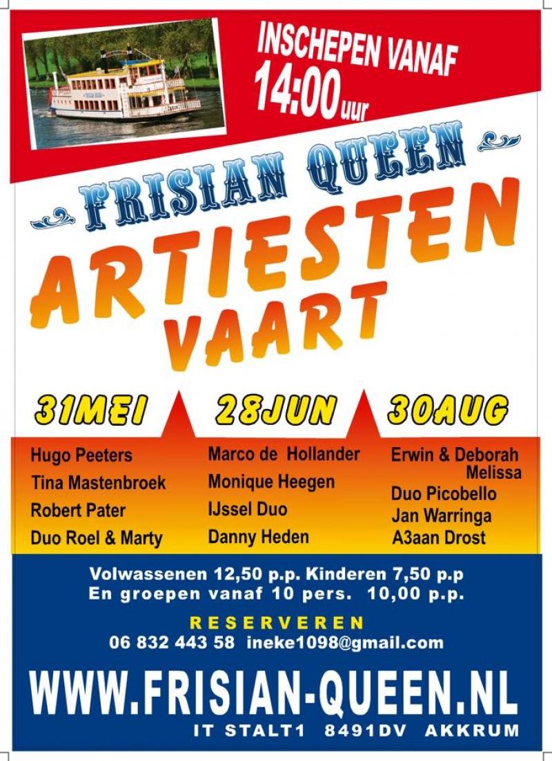 Frisian Queen Artiesten Vaart